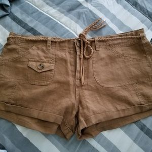 Brown dress shorts